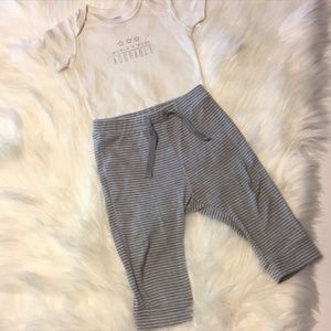 Baby Boy 12 Month Gray/Cream Outfit